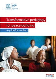 Transformative pedagogy for peace-building: a guide for teachers book cover children in classroom