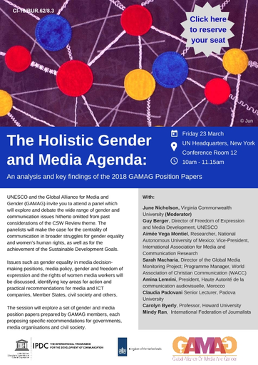 The Holistic Gender and Media Agenda: An Analysis and Key