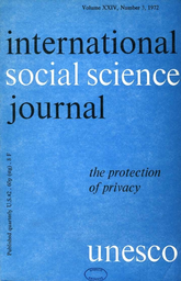 The Protection Of Privacy Unesco Digital Library