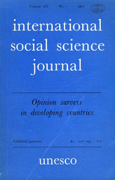 Opinion Surveys In Developing Countries Introduction