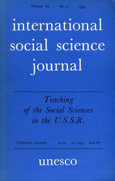 Teaching Of The Social Sciences In The Higher Educational