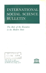 The Executive In The Modern State Unesco Digital Library