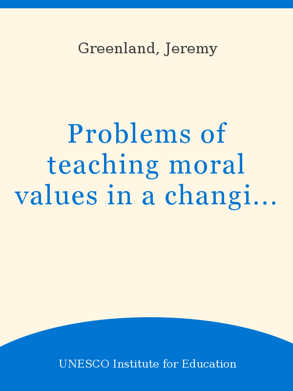 moral problems in society