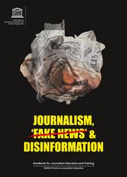 image of journalism, fake news & disinformation handbook with link to book