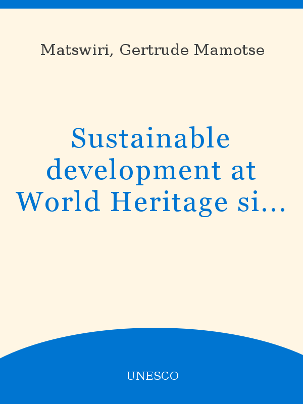 Sustainable Development At World Heritage Sites Through Government