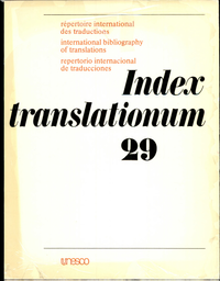 Index translationum; international bibliography of