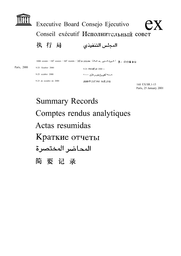 Summary records (of the 160th session of the Executive Board