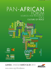 Pan African Forum: Sources and Resources for a Culture of